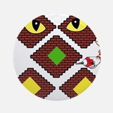 Blockcraft creeper Ornament (Round)