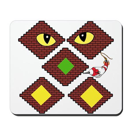 Blockcraft creeper Mousepad