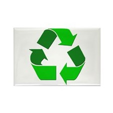 Recycle Environment Symbol Rectangle Magnet