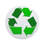 Recycle Environment Symbol Ornament (Round)
