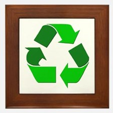Recycle Environment Symbol Framed Tile