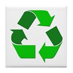 Recycle Environment Symbol Tile Coaster