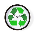 Recycle Environment Symbol Wall Clock