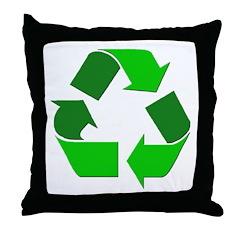 Recycle Environment Symbol Throw Pillow
