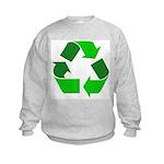 Recycle Environment Symbol Kids Sweatshirt