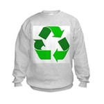 Recycle Environment Symbol (Front) Kids Sweatshirt