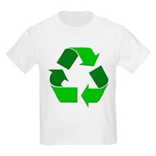 Recycle Environment Symbol (Front) Kids T-Shirt