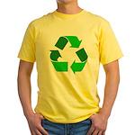 Recycle Environment Symbol Yellow T-Shirt