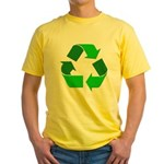 Recycle Environment Symbol (Front) Yellow T-Shirt