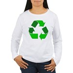 Recycle Environment Symbol Women's Long Sleeve T-S