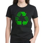 Recycle Environment Symbol (Front) Women's Dark T-