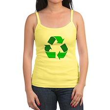 Recycle Environment Symbol Jr.Spaghetti Strap