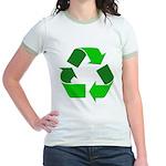 Recycle Environment Symbol Jr. Ringer T-Shirt