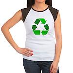 Recycle Environment Symbol Women's Cap Sleeve T-Sh