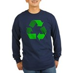 Recycle Environment Symbol (Front) Long Sleeve Dar