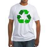 Recycle Environment Symbol Fitted T-Shirt