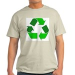 Recycle Environment Symbol (Front) Ash Grey T-Shir
