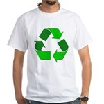 Recycle Environment Symbol (Front) White T-Shirt
