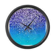 Glitteresques XI Large Wall Clock
