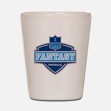 I Love Fantasy Football Shot Glass