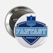 "I Love Fantasy Football 2.25"" Button"