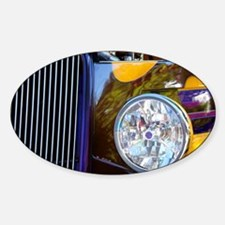 Hot Rod Show Car Light Sticker (Oval)