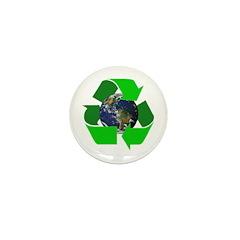Recycle Earth Environment Symbol Mini Button (10 p