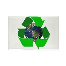 Recycle Earth Environment Symbol Rectangle Magnet