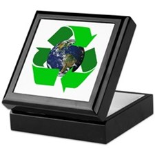 Recycle Earth Environment Symbol Keepsake Box