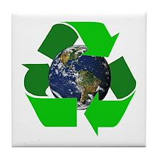 Recycle Earth Environment Symbol Tile Coaster