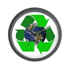 Recycle Earth Environment Symbol Wall Clock