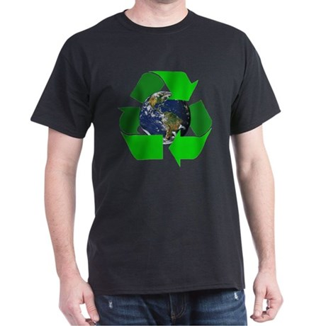 Recycle Earth Environment Symbol (Front) Dark T-Sh