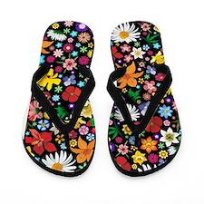 Spring Flowers Pattern Flip Flops