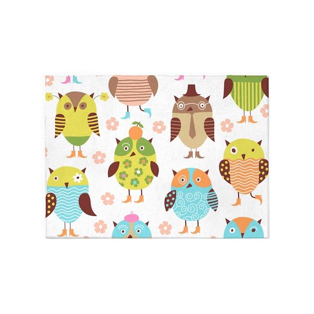 Cute Owls 5'x7'Area Rug By BestGear