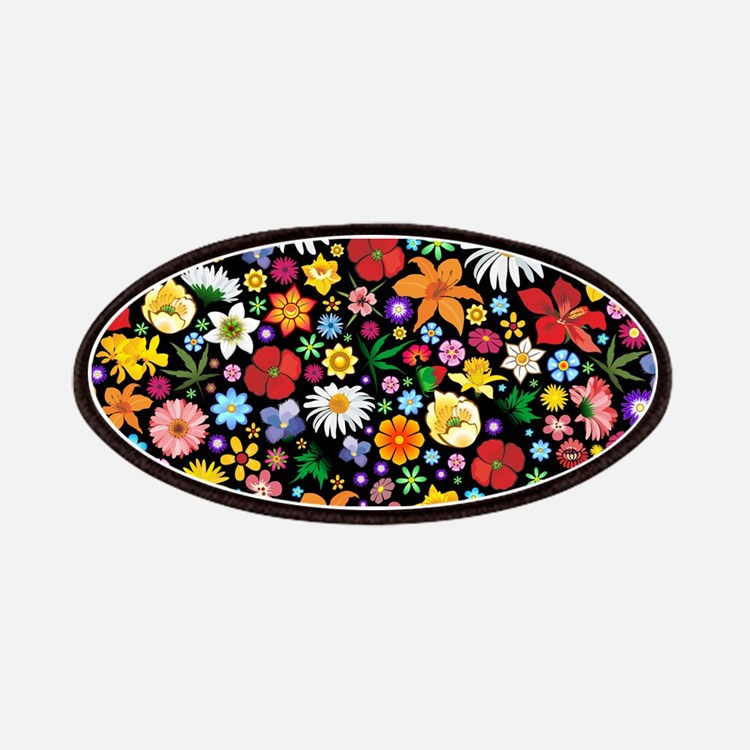 Spring Flowers Pattern Patches