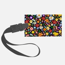 Spring Flowers Pattern Luggage Tag