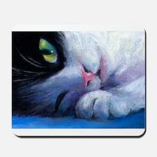 Tuxedo Cat 2 Mousepad
