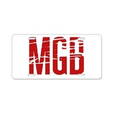 MGB Aluminum License Plate