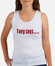 Tony Soprano buy real Estate Women's Tank Top