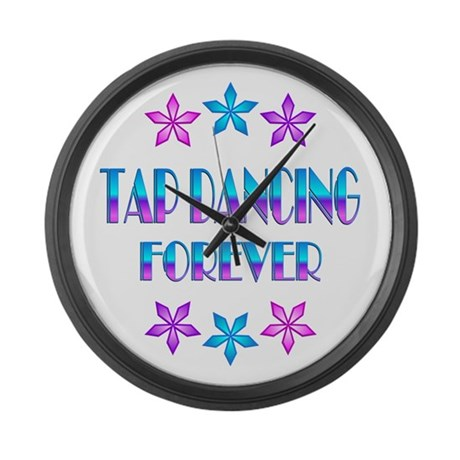 Tap Dancing Forever Large Wall Clock