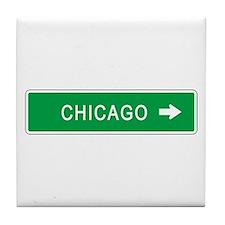 Roadmarker Chicago (IL) Tile Coaster