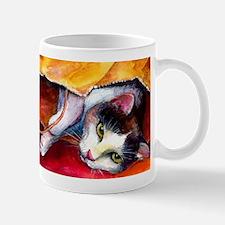 Tabby Cat in a bag Mug