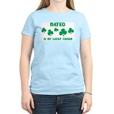 Mateo is my lucky charm Women's Pink T-Shirt