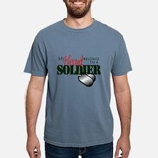 Heart Belongs to Soldier Mens Comfort Colors Shirt