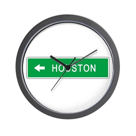 Roadmarker Houston (TX) Wall Clock