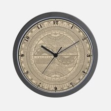 Epitomized Geography 1733 Wall Clock