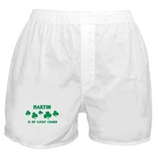 Martin is my lucky charm Boxer Shorts
