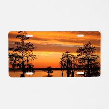 Chowan River Sunset Aluminum License Plate