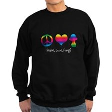 Peace Love Fungi (Light) Sweatshirt