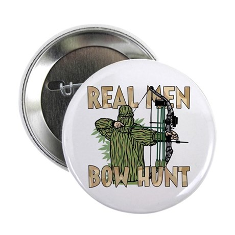 """Real Men Bow Hunt 2.25"""" Button (10 pack)"""